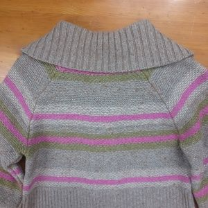 Old Navy Sweaters - Old Navy Wool Blend Pink & Beige Striped Sweater